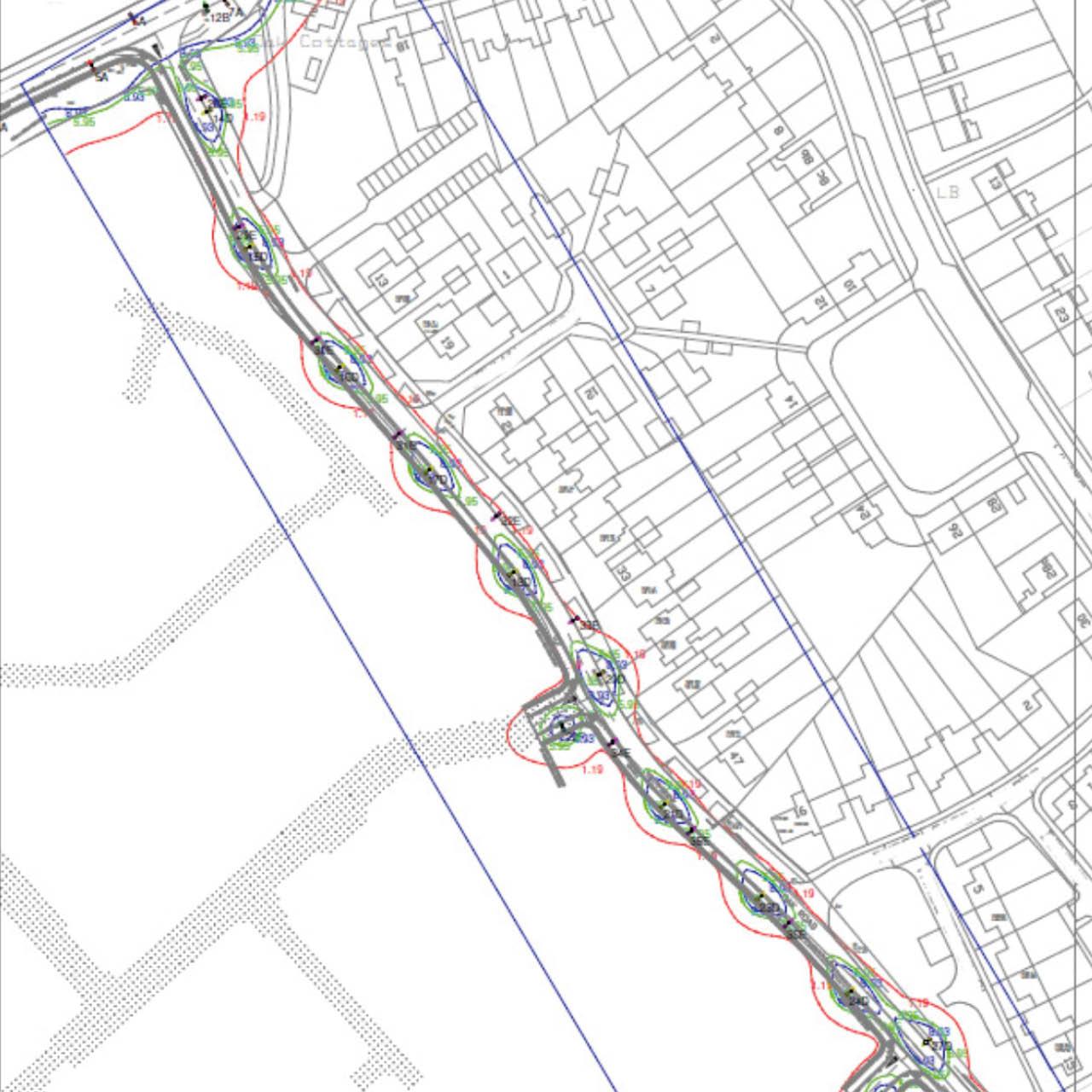 S278 street lighting Map view