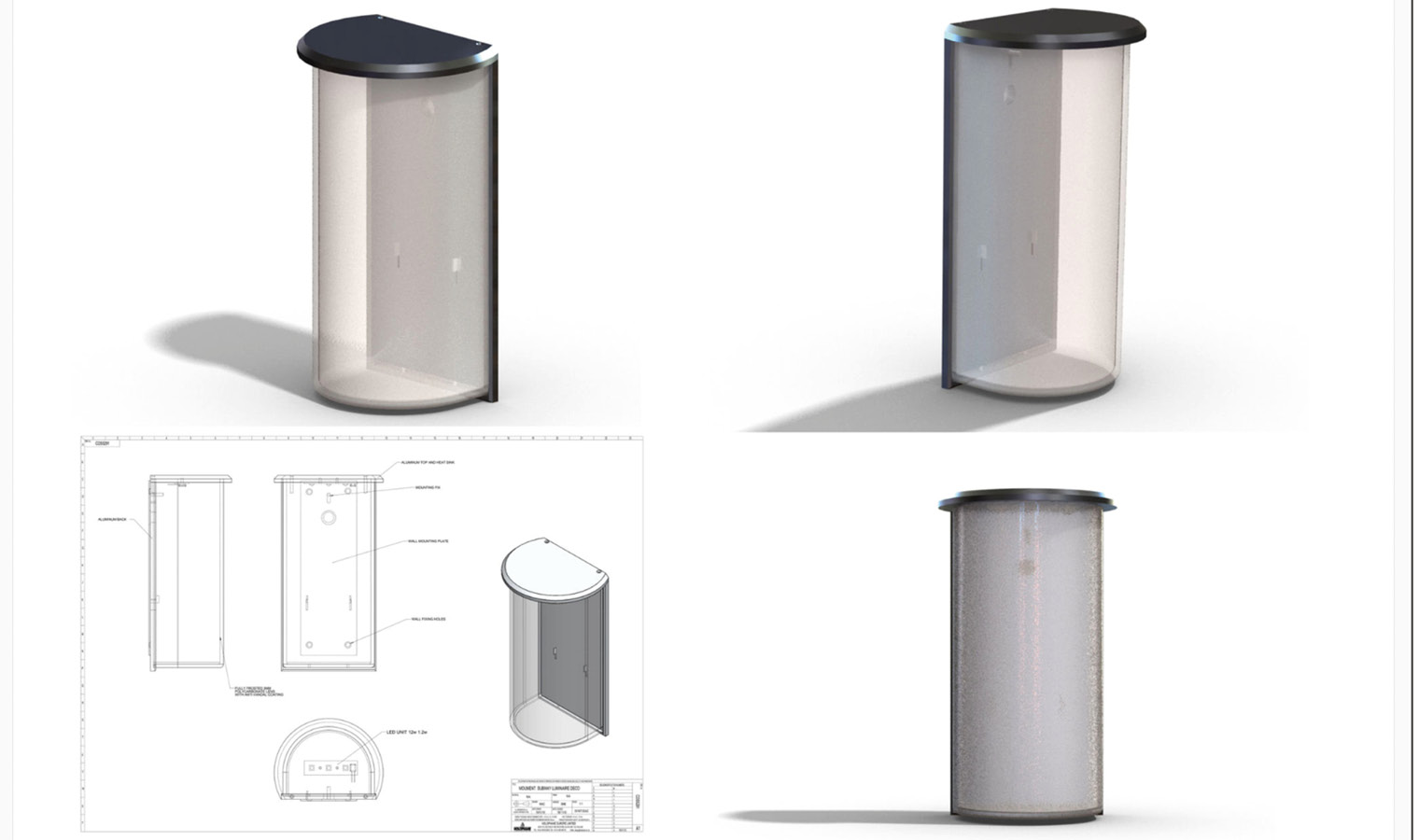 Drawings of product design